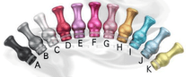 Anodized Aluminum Ming Vase Drip Tip for 510 | 808D-1 | 901