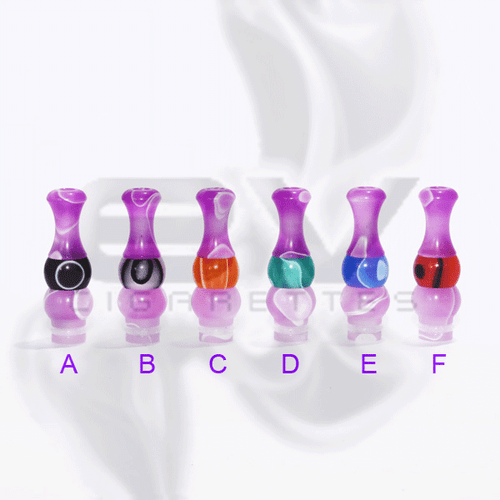 Versicolor Mixed Dual Purple Drip Tip for 510 | 808D-1 | 901