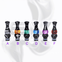 Versicolor Mixed Dual Black Drip Tip for 510 | 808D-1 | 901