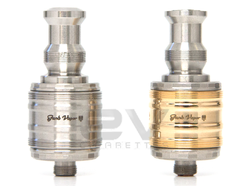HCigar Trident Rebuildable Dripping Atomizer - Stainless Steel and Gold Plated