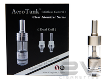 Kanger Aerotank Glass Clearomizer with Adjustable Airflow Controller and Dual Coils