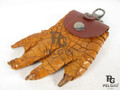Genuine Crocodile Foot Claw Key Ring Brown [CRKR002BR05M-L]