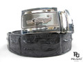 "Genuine Crocodile Single Hornback Skin Belt 46"" Black [CRB0055B1BK01M]"