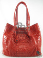 Genuine Crocodile Leather Luxury Red Hobo Handbag [CRHH006RD01M]