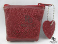 Genuine Stingray Skin Coin Purses Red [8859322406036]