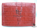 Genuine Caiman Skin Card Holders Wallet Red [CMCH007TRD01]
