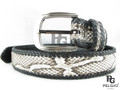 "Genuine Burmese Python Skin Handmade Belt 46"" Long Natural [8859322405862]"