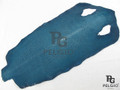 Genuine Polished Stingray Skin Hide Blue Long Shape Grade A [SRSLBU07P]