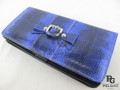 Genuine Sea Snake Skin Clutch Wallet Violet [SEL002VT01G]