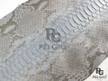Genuine Reticulated Python Belly Skin Hide Matte Gray Grade A [PYRSBGY01M]