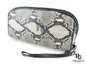 Genuine Python Skin Wrist Purse Natural [PYRH057ANT01G]
