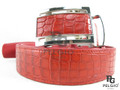 "Genuine Caiman Skin Belt 46"" Red [CMB0025A1RD02]"