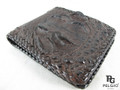 Genuine Crocodile Head Bump Skin Handmade Wallet Brown [CRUS0001-002FH1BBR01M-NCWB2]