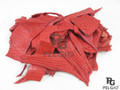 Genuine Crocodile Skin Hide Scraps 100 g. Red [8859322412440]