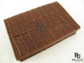 Genuine Caiman Skin Card Holders Wallet Brown [CMCH003TBR04]