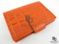 Genuine Caiman Skin Card Holders Orange [CMCH001TRG01]