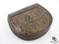Genuine Caiman Hornback Skin Coin Purse Brown [CMCP002HBR01]
