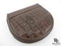 Genuine Caiman Skin Coin Purse Mahogany Brown [8859322412983]