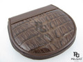 Genuine Caiman Tail Skin Coin Purse Brown [CMCP002TBR01]