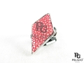 Genuine Polished Stingray Skin Ring Pink [SRR006PK02P]