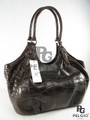 Genuine Brown Crocodile Belly Luxury Hobo Shoulderbag [CRBH013BR01M]