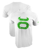 Jaco Grunge Crew White/Green Shirt
