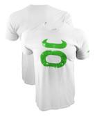 Jaco Grunge Crew White/Green Shirt