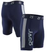 Jaco Vale Tudo Long Fight Shorts  NAVY/SILVERLAKE