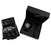 Affliction Mens Large Round Watch Black/Black with Autographed Rich Franklin Glove