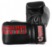 Triumph United Death Star Black Lace Up Pro Boxing Gloves