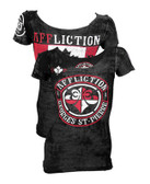 Affliction George St. Pierre Rush Union  Women's Shirt