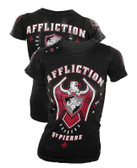 Affliction Womens Geoges St. Pierre 167 Royal Baby Tee