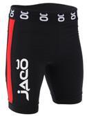 Jaco Vale Tudo Fight Shorts - Long (Black/Red)