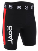 Jaco Vale Tudo Fight Shorts - Long (Black/Red)