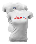 Jaco Womens White Patriot Crew Shirt