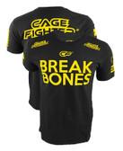 "Cage Fighter ""BREAK BONES"" Daniel Cormier UFC 182 EXCLUSIVE Black & Yellow Walkout Shirt"