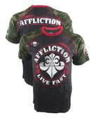 Affliction Divio Spray Football Shirt