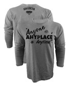 Iron Addiction Cowboy Cerrone Anyone Anyplace Anytime V2 Long Sleeve