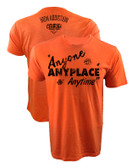 Iron Addiction Cowboy Cerrone Anyone Anyplace Anytime V2 Shirt Orange