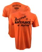 Iron Addiction Cowboy Cerrone Anyone Anyplace Anytime V2 Shirt Orange