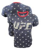 1UFC Indigo Star Tri-Blend Shirt