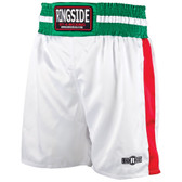 Ringside Pro-Style White Boxing trunks