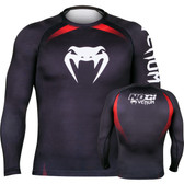 Venum NoGi Rash Guard Long Sleeve Black Rash Guard