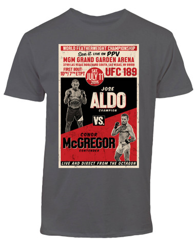 Conor McGregor vs. Jose Aldo UFC 189 Old School Retro T-Shirt