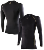 Virus Men's Energy Series Bioceramic Compression Long Sleeve Compression V-Neck
