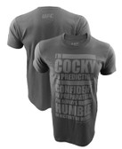 UFC Conor McGregor Charcoal Humility Shirt