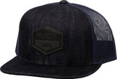 RVCA Laurel 6 Panel Denim Trucker Hat