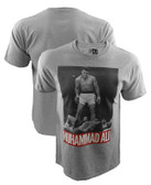 Muhammad Ali Over Liston Grey Heather Shirt