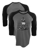 Muhammad Ali Over Liston Grey/Black Raglan
