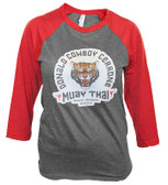 Iron Addiction Cowboy Cerrone Muay Thai WOMENS Raglan Tee